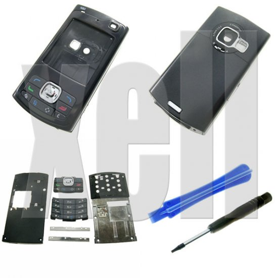 Premium Housing Cover Fascia for Nokia N80, Black **Free Shipping**