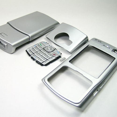 Housing Cover Fascia for Nokia N70, Silver  **Free Shipping**