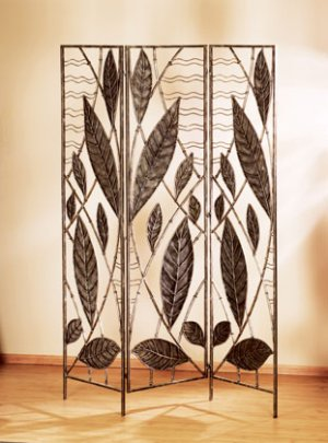 Wrought Iron Screen With Leaves
