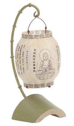 Alabastrite Buddha Bamboo Lantern