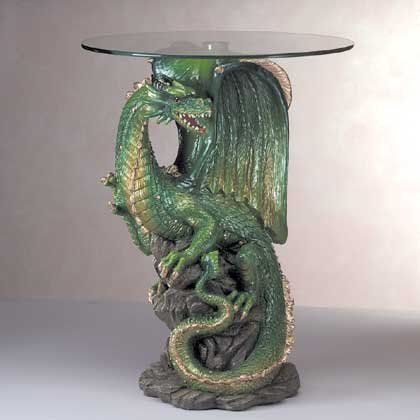 Glass Top Dragon Table