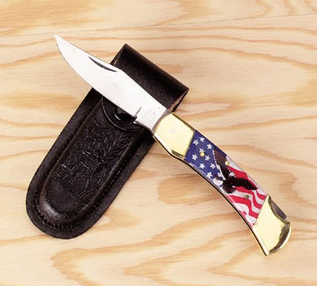 American Flag & Eagle Knife