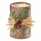 Birch Bark Pillar Candle