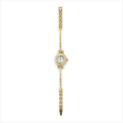 Golden Crystals Bangle Lady's Watch