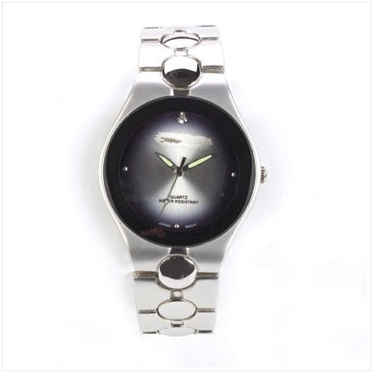 MEN'S OPALESCENT SILVER WATCH