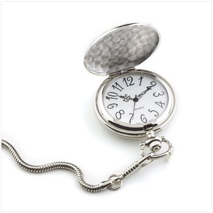 Men's Silver Pocket Watch