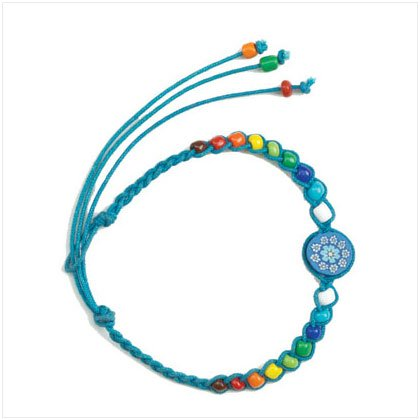 Blue Flower Friendship Bracelet