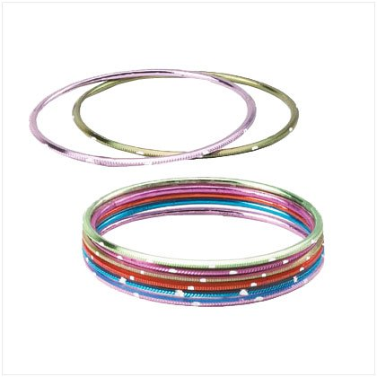 Color Metal Bangles