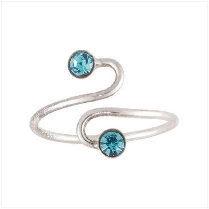 Blue CZ Spiral  Toe Ring