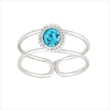 Round CZ Stone Toe Ring