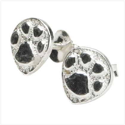 Paw Prints Stud Earrings