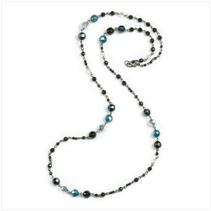 Black & Hematite Bead Necklace
