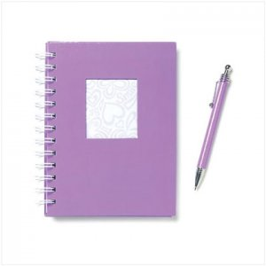 Purple Notebook & Pen
