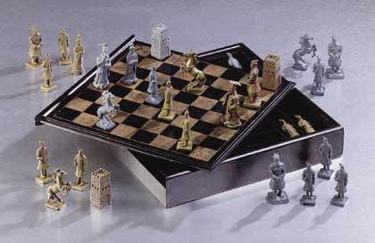 Chinese Warrior Chess Set