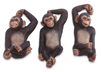 Monkey Wall Hook Trio