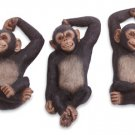 Monkey Wall Hook Trio