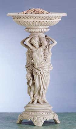 Neoclassical Maidens Bird Feeder