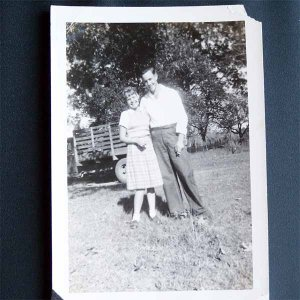 Vintage Black and White Photo Man and Woman c1940s (PH005)