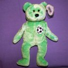 Kicks the Soccer Bear Ty Beanie Baby MWMT