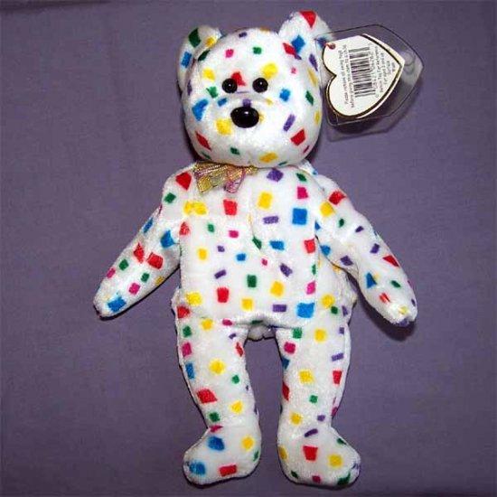 Ty 2K the Bear Ty Beanie Baby MWMT