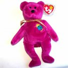 Millenium the Bear Ty Beanie Baby MWMT Misspelled Name with One N