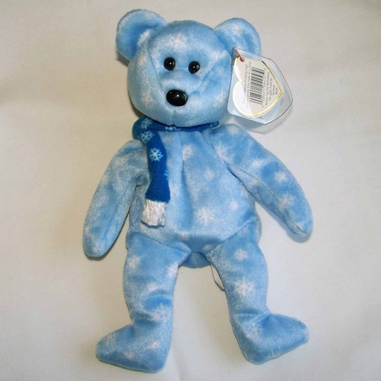 1999 Holiday Teddy Bear Ty Beanie Baby MWMT