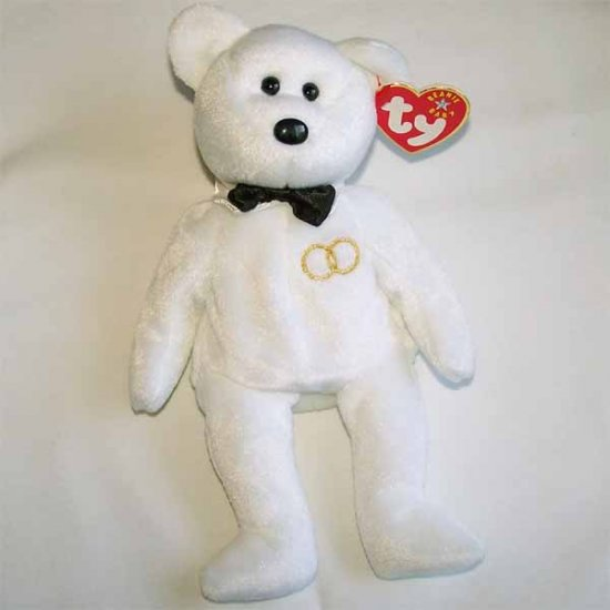Mr. the Groom Bear Ty Beanie Baby MWMT