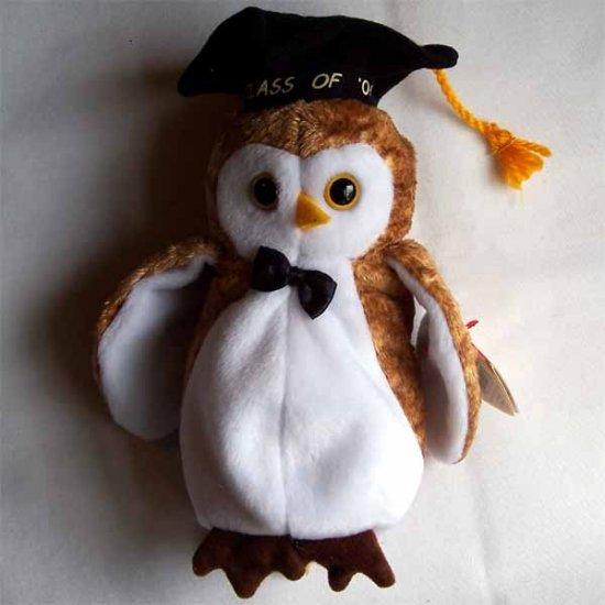 Wisest the Owl Ty Beanie Baby MWMT