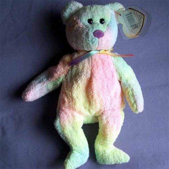 Groovy the Ty-dye Bear Ty Beanie Baby MWMT