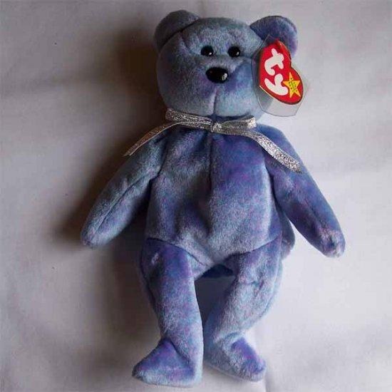 Clubby II the Bear Ty Beanie Baby MWMT