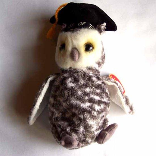 Smart the Owl Ty Beanie Baby MWMT