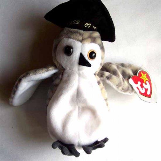 Wiser the Owl Ty Beanie Baby MWMT