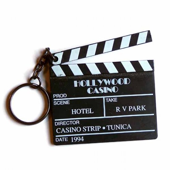 Hollywood Casino Black Movie Clapper Keychain Tunica, MS 1994