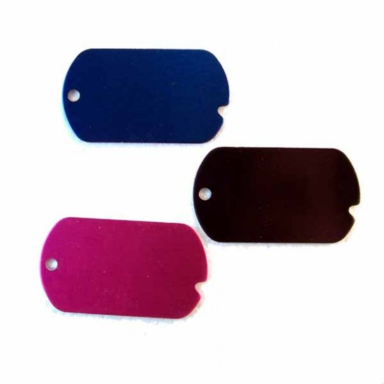 7 Blank Engravable ID Dog Tags Assorted Colors (DT-5)