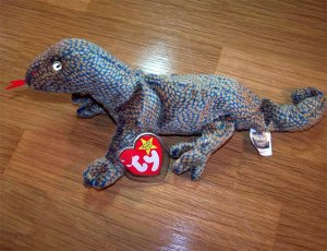 Scaly the Lizard Ty Beanie Baby MWMT