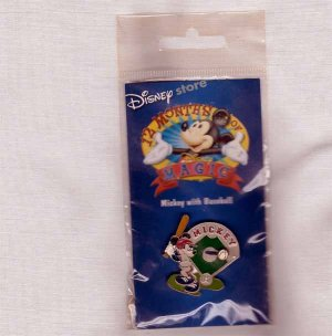 Mickey with Baseball Disney Lapel Pin - Disney 12 Months of Magic
