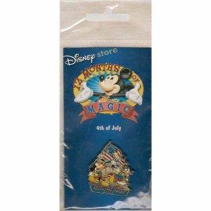 4th of July Disney Lapel Pin - Disney 12 Months of Magic