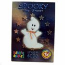 Spooky the Ghost Silver Ty Beanie Baby Single Card Series 3 (BB3)