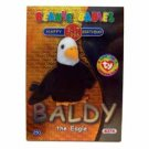 Baldy the Eagle Silver Birthday Ty Beanie Baby Single Card Series 2 (BB8)