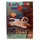 Snip the Siamese Cat Silver Birthday Ty Beanie Baby Single Card Series 2 (BB9)