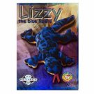 Lizzy the Blue Lizard Silver Retired Ty Beanie Baby Single Card Series 2 (BB12)