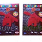 Rover the Dog Green and Silver Birthday Ty Beanie Baby Single Cards Series 2 (BB17)
