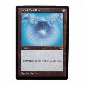Pearl Medallion - Tempest - Magic the Gathering Role Playing Single Card (MTG53)