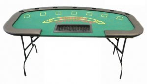 Black Jack Table with Folding Legs