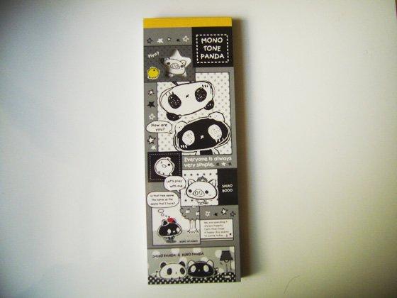 Crux Monotone Panda Memo Pad