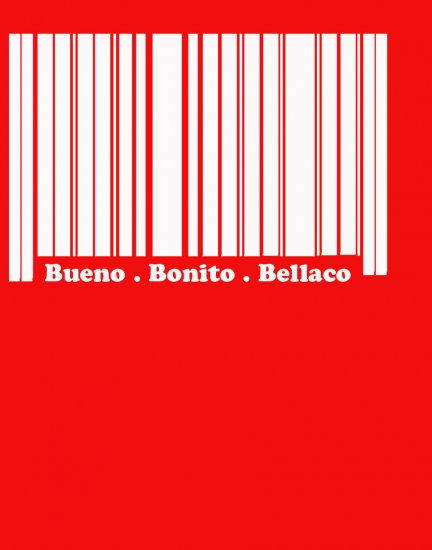 BARCODE TEE RED