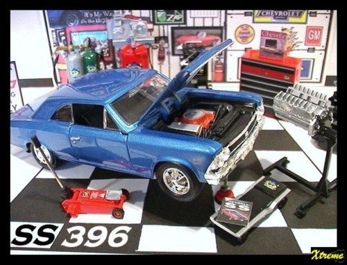 1966 CHEVY CHEVELLE SS 396 GARAGE W/ DIE CAST TOOLS +++