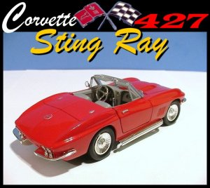 1967 CORVETTE STING RAY 427 COLLECTIBLE MODEL CAR+++