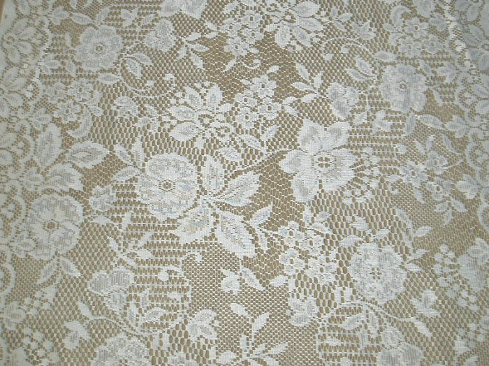 Shabby Ivory  Lace  Chic Curtains/Panels  3 pair(6)35x63 Floral