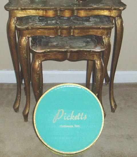 """Vintage Shabby Aqua Chic Hat Box  """"Chattanooga Tn"""""""